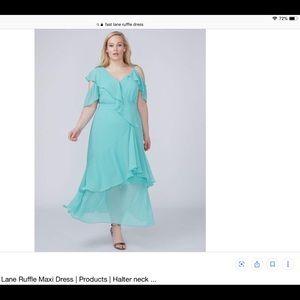 Lane Bryant Maxi Ruffle Dress